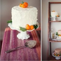 Cakes, white, orange, Round Wedding Cakes, Summer Wedding Cakes, Wedding Cakes, Summer Weddings, Boho Chic Weddings, Rustic Weddings