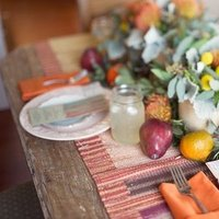 Flowers & Decor, orange, pink, Centerpieces, Summer Weddings, Boho Chic Weddings, Rustic Weddings, Rustic Wedding Flowers & Decor, Summer Wedding Flowers & Decor, Table settings