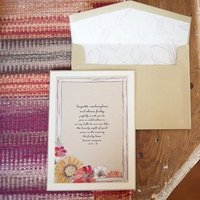 Stationery, pink, brown, Rustic Wedding Invitations, Summer Weddings, Boho Chic Weddings, Rustic Weddings
