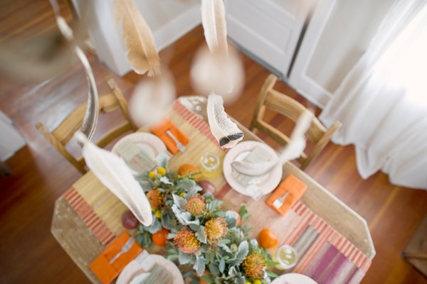 Flowers & Decor, orange, pink, Centerpieces, Summer Weddings, Boho Chic Weddings, Rustic Weddings, Rustic Wedding Flowers & Decor, Summer Wedding Flowers & Decor, Table settings, Boho Chic Flowers & Decor