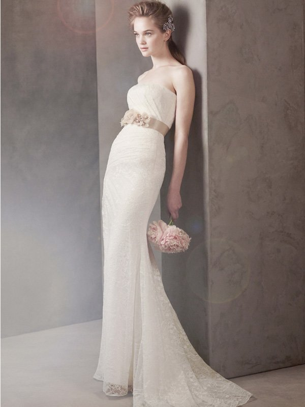Wedding Dresses, Mermaid Wedding Dresses, Lace Wedding Dresses, Romantic Wedding Dresses, Fashion, ivory, Spring, Modern, Classic, Vera wang, Romantic, Lace, Strapless, Strapless Wedding Dresses, Floor, Natural, Sleeveless, White by vera wang, Fit-n-Flare, Modern Wedding Dresses, Spring Wedding Dresses, Classic Wedding Dresses, Floor Wedding Dresses