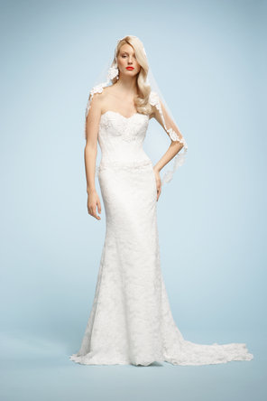 Wedding Dresses, Sweetheart Wedding Dresses, Lace Wedding Dresses, Fashion, ivory, Lace, Sweetheart, Strapless, Strapless Wedding Dresses, Embroidery, Chapel, Natural, Sleeveless, Watters bridal, high-neck, floor length, High Neck Wedding Dresses