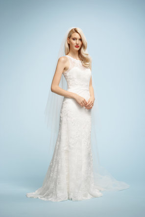 Wedding Dresses, Sweetheart Wedding Dresses, Lace Wedding Dresses, Fashion, ivory, Lace, Sweetheart, Embroidery, Chapel, Sleeveless, Watters bridal, floor length