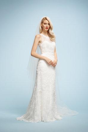 Wedding Dresses, Sweetheart Wedding Dresses, Lace Wedding Dresses, Fashion, ivory, Lace, Sweetheart, Embroidery, Chapel, Sleeveless, Watters bridal, floor length