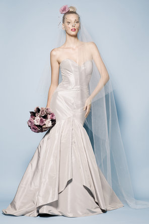 Wedding Dresses, Sweetheart Wedding Dresses, Fashion, Mermaid, Sweetheart, Strapless, Strapless Wedding Dresses, Taffeta, Sleeveless, Watters bridal, floor length, sweep train, taffeta wedding dresses