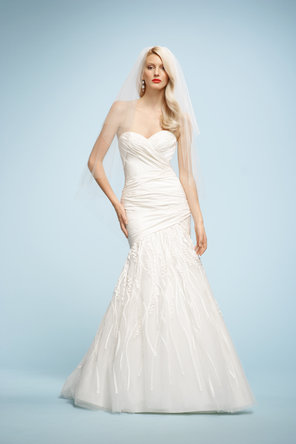 Wedding Dresses, Sweetheart Wedding Dresses, Fashion, ivory, Sweetheart, Strapless, Strapless Wedding Dresses, Dropped, Taffeta, Sleeveless, Watters bridal, chapel train, floor length, taffeta wedding dresses