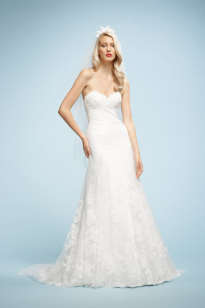 Wedding Dresses, Sweetheart Wedding Dresses, A-line Wedding Dresses, Lace Wedding Dresses, Fashion, Lace, Sweetheart, Strapless, Strapless Wedding Dresses, A-line, Sleeveless, Watters bridal, chapel train, floor length