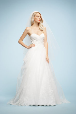 Wedding Dresses, Sweetheart Wedding Dresses, A-line Wedding Dresses, Lace Wedding Dresses, Fashion, ivory, Lace, Sweetheart, Strapless, Strapless Wedding Dresses, A-line, Sleeveless, Watters bridal, floor length, sweep train