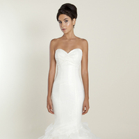 white, Sweetheart, Strapless, Tulle, Wedding dress, Ruffles, Winnie Couture, Mermaid/Trumpet, Fit-n-Flare
