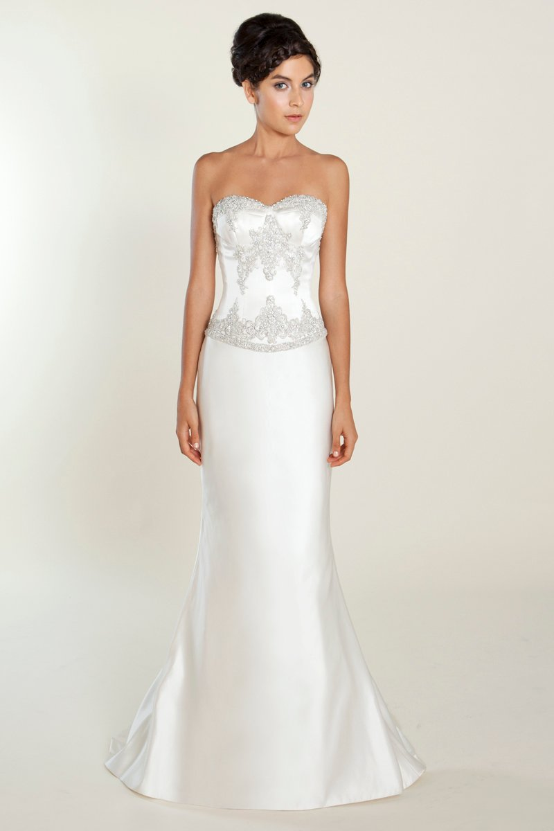 Wedding Dresses, Sweetheart Wedding Dresses, Romantic Wedding Dresses, Hollywood Glam Wedding Dresses, Fashion, white, ivory, Winter, Classic, Romantic, Sweetheart, Strapless, Strapless Wedding Dresses, Beading, Floor, Formal, Silk, Modest, hollywood glam, Beaded Wedding Dresses, Classic Wedding Dresses, Winnie Chlomin Diamond Label, winter wedding dresses, Formal Wedding Dresses, Silk Wedding Dresses, Floor Wedding Dresses, Modest Wedding Dresses