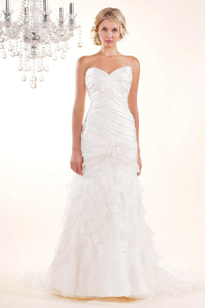 Wedding Dresses, Sweetheart Wedding Dresses, Mermaid Wedding Dresses, Ruffled Wedding Dresses, Fashion, white, ivory, Modern, Flowers, Shabby Chic, Sweetheart, Strapless, Strapless Wedding Dresses, Satin, Organza, Silk, Ruffles, Pleats, Sleeveless, Mermaid/Trumpet, Fit-n-Flare, Modern Wedding Dresses, organza wedding dresses, trumpet wedding dresses, Winnie Chlomin Diamond Label, satin wedding dresses, Flower Wedding Dresses, Silk Wedding Dresses, Shabby Chic Wedding Dresses