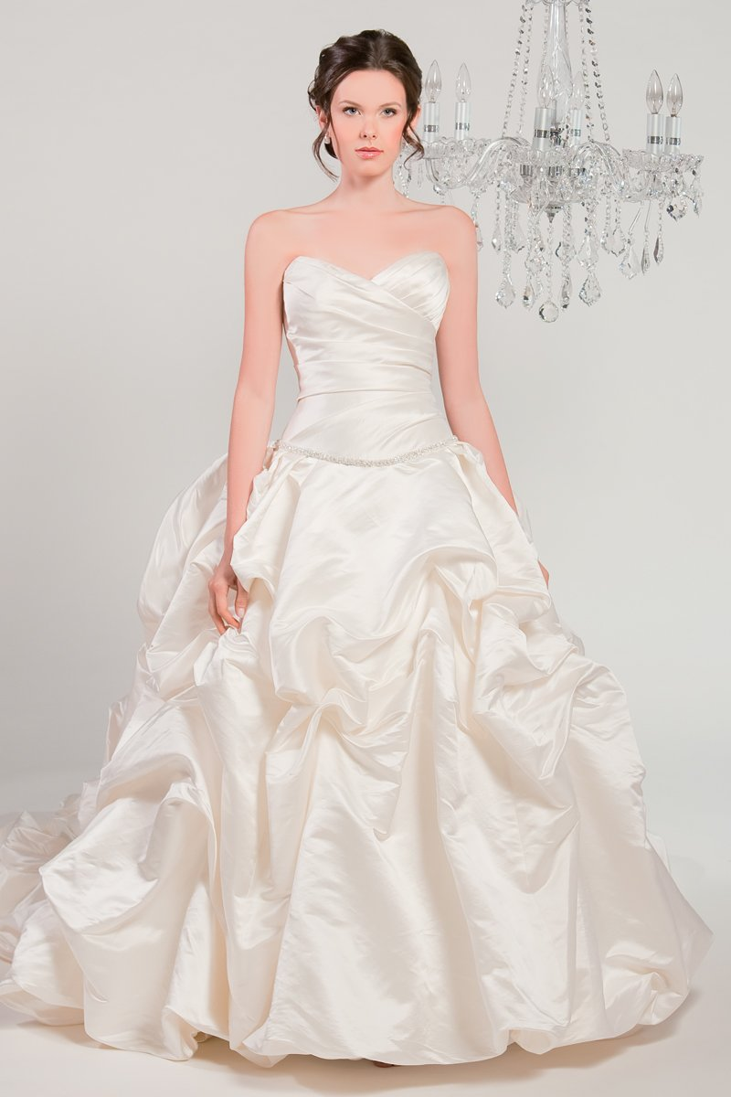Wedding Dresses, Sweetheart Wedding Dresses, Ball Gown Wedding Dresses, Romantic Wedding Dresses, Fashion, white, ivory, Classic, Romantic, Sweetheart, Strapless, Strapless Wedding Dresses, Beading, Satin, Floor, Formal, Silk, Pick-ups, Sleeveless, Ruching, Ball gown, Beaded Wedding Dresses, Classic Wedding Dresses, Winnie Chlomin Diamond Label, satin wedding dresses, Formal Wedding Dresses, Silk Wedding Dresses, Floor Wedding Dresses