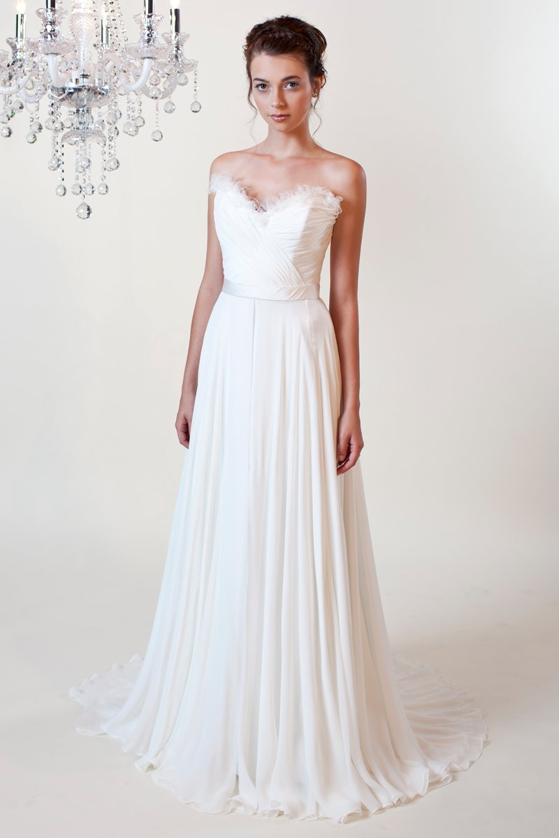 Wedding Dresses, Sweetheart Wedding Dresses, A-line Wedding Dresses, Ruffled Wedding Dresses, Fashion, white, ivory, Boho Chic, Sweetheart, Strapless, Strapless Wedding Dresses, A-line, Empire, Sheath, Chiffon, Organza, Silk, Ruffles, Hip, Sleeveless, Ruching, organza wedding dresses, Boho Chic Wedding Dresses, Winnie Chlomin Diamond Label, Sheath Wedding Dresses, Chiffon Wedding Dresses, Silk Wedding Dresses, Hip Wedding Dresses