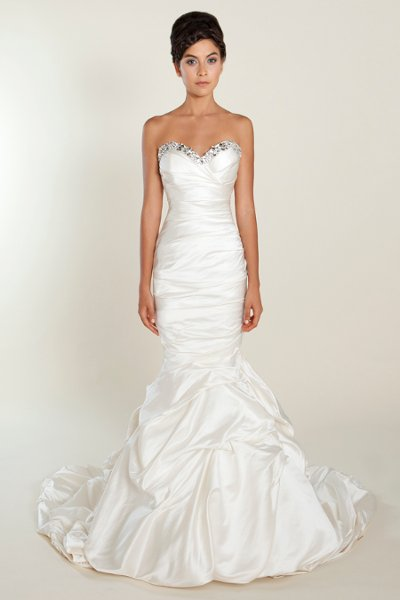 Wedding Dresses, Sweetheart Wedding Dresses, Mermaid Wedding Dresses, Romantic Wedding Dresses, Hollywood Glam Wedding Dresses, Fashion, white, ivory, Romantic, Sweetheart, Strapless, Strapless Wedding Dresses, Beading, Floor, Formal, Silk, Hip, Dropped, Sleeveless, Mermaid/Trumpet, Fit-n-Flare, hollywood glam, Beaded Wedding Dresses, trumpet wedding dresses, Winnie Chlomin Diamond Label, Formal Wedding Dresses, Silk Wedding Dresses, Floor Wedding Dresses, Hip Wedding Dresses