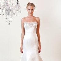 Wedding Dresses, A-line Wedding Dresses, Fashion, white, ivory, Modern, Strapless, Strapless Wedding Dresses, A-line, Beading, Empire, Satin, Floor, Formal, Silk, Sleeveless, Modern Wedding Dresses, Beaded Wedding Dresses, Winnie Chlomin Diamond Label, satin wedding dresses, Formal Wedding Dresses, Silk Wedding Dresses, Floor Wedding Dresses