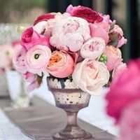 Reception, pink, Flowers