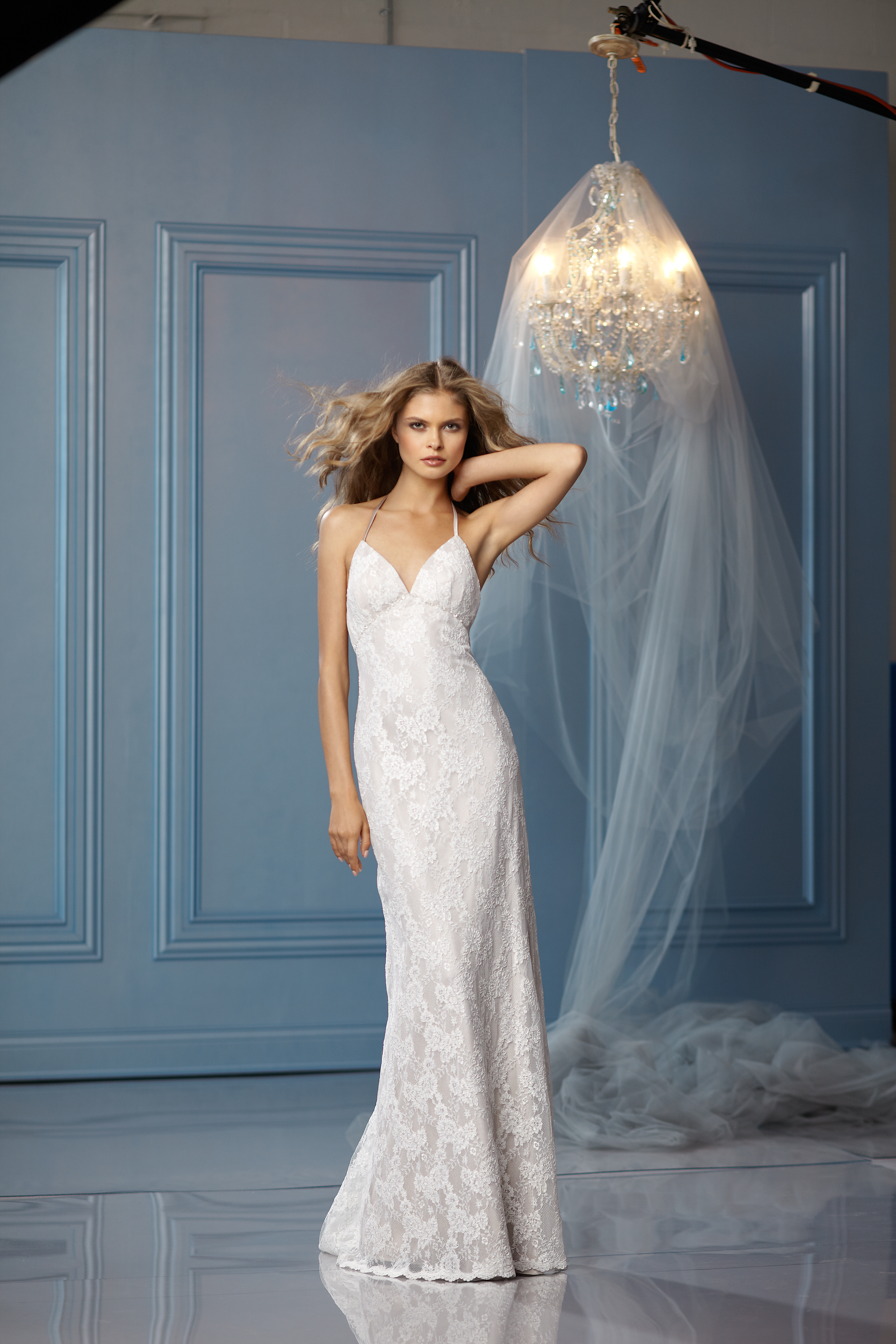 Mermaid Wedding Dresses, Lace Wedding Dresses, Beach Wedding Dresses, Fashion, white, ivory, Beach, Lace, Halter, V-neck, V-neck Wedding Dresses, Floor, Wedding dress, Natural, Informal, Mermaid/Trumpet, Fit-n-Flare, halter wedding dresses, trumpet wedding dresses, Wtoo Brides, Informal Wedding Dresses, Floor Wedding Dresses