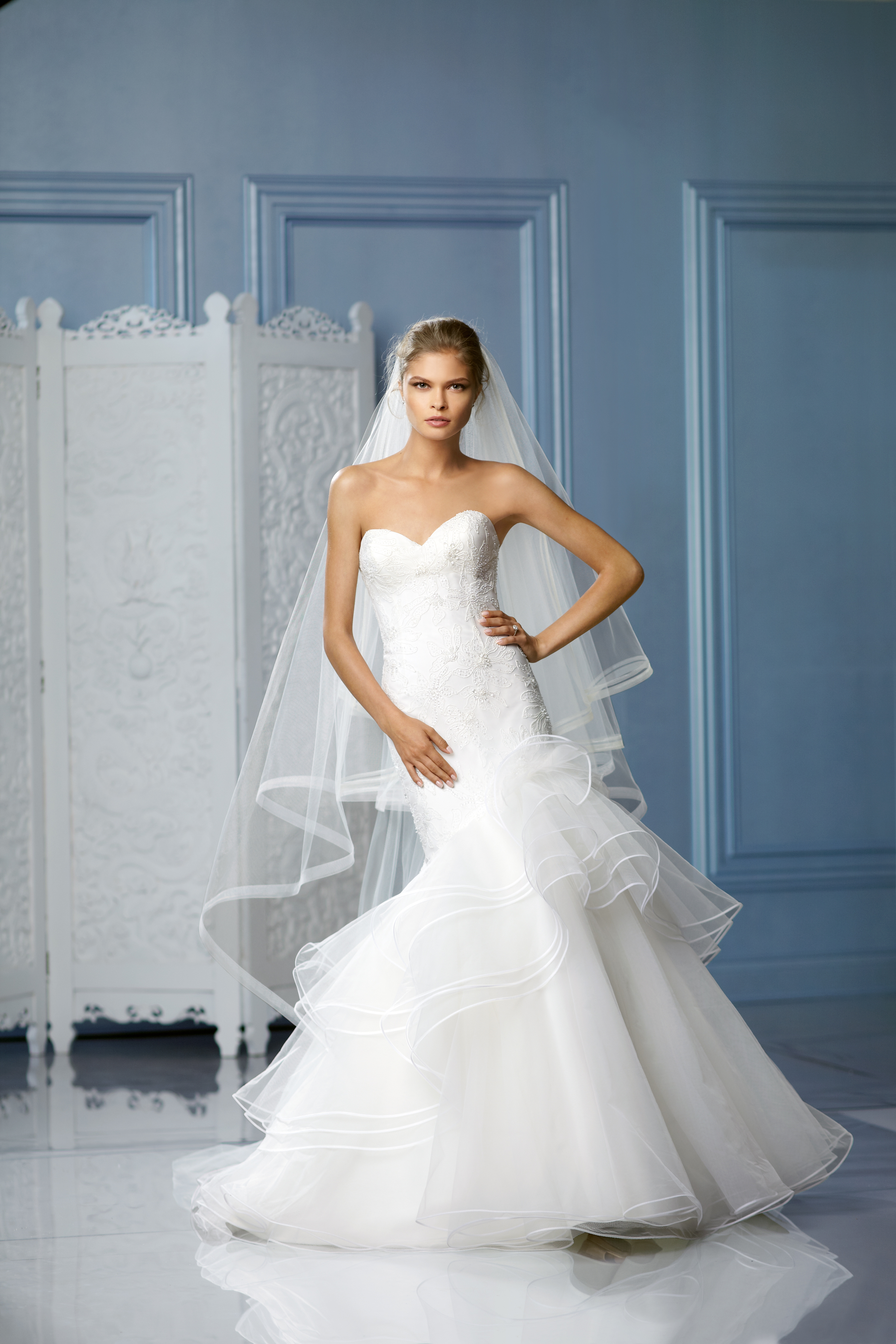 Sweetheart Wedding Dresses, Mermaid Wedding Dresses, Ruffled Wedding Dresses, Lace Wedding Dresses, Hollywood Glam Wedding Dresses, Fashion, white, ivory, Spring, Summer, Winter, Modern, Lace, Sweetheart, Strapless, Strapless Wedding Dresses, Tulle, Floor, Wedding dress, Ruffles, Mermaid/Trumpet, Fit-n-Flare, hollywood glam, Modern Wedding Dresses, trumpet wedding dresses, Spring Wedding Dresses, tulle wedding dresses, Wtoo Brides, winter wedding dresses, Summer Wedding Dresses, Floor Wedding Dresses