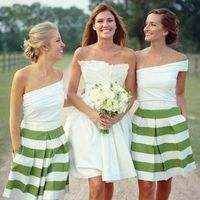 Bridesmaids, green, dress, Bride