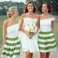 Bridesmaids, green, dress, Bride