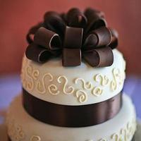 Reception, ivory, brown, cake, Round