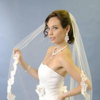 Wedding veils, alencon lace veils, chantilly lace veils