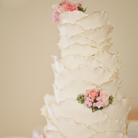 White Textured Wedding Cake