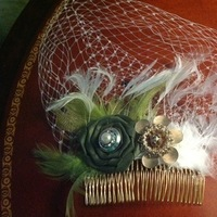 close up of fascinator that I made