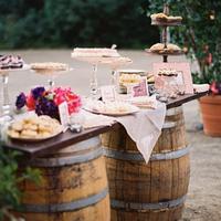 Wine Barrel Dessert Display