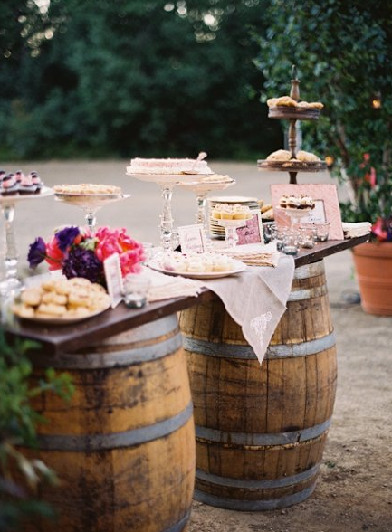 Wine Barrel Dessert Display