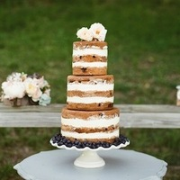 Blueberry Naked Wedding Cake