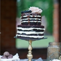 Chocolate Drizzle Naked Wedding Cake