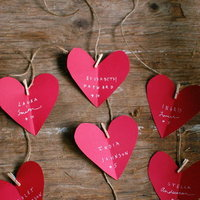 DIY: Heart-Shaped Escort Cards
