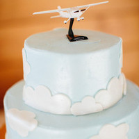Airplane Groom's Cake