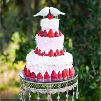 Strawberry Bird-Themed Fruit Wedding Cake