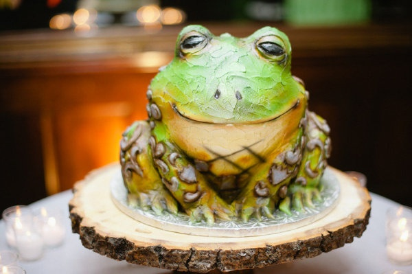 Frog Groom's Cake