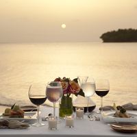 Romantic Sunset Candle Light Dinner
