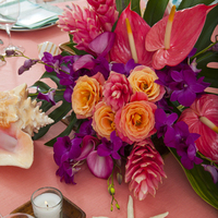Tropical Caribbean Coral Blush Centerpiece