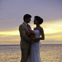 Beautiful Caribbean Sunet Destination Wedding