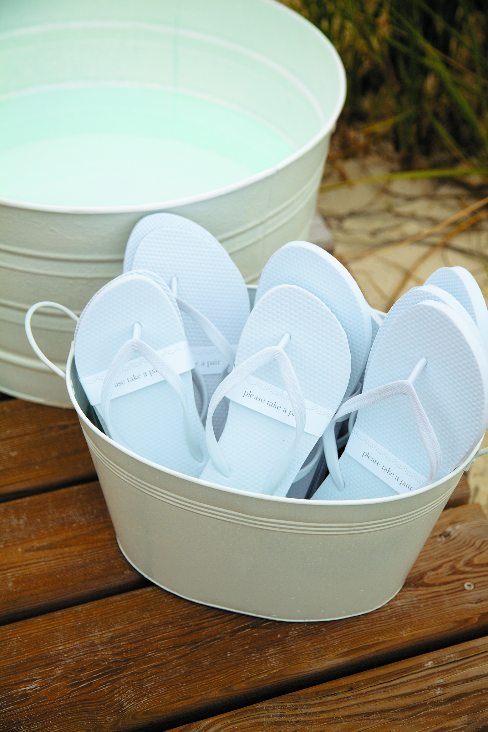 Flip Flop Station for Your Destination Wedding Guests