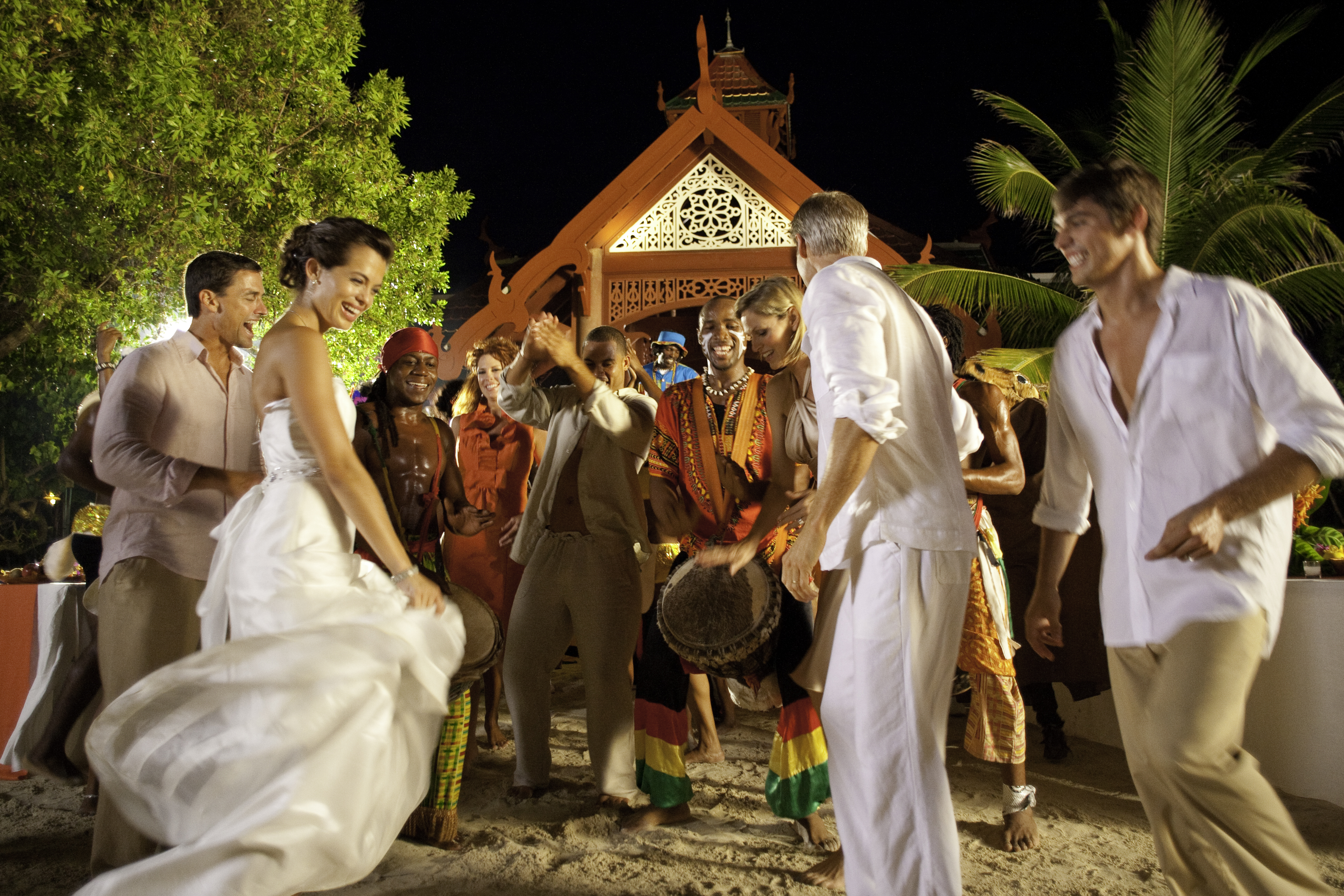 Private Island Destination Wedding Reception at Sandals Royal Caribbean in Jamaica