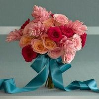 Twilight Evening Splendor Bridal Bouquet of Roses and Gingers