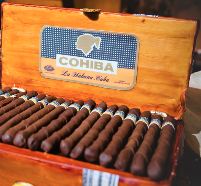 Cigar Groom's Cake