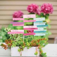 DIY: Stacked Paper Escort Cards