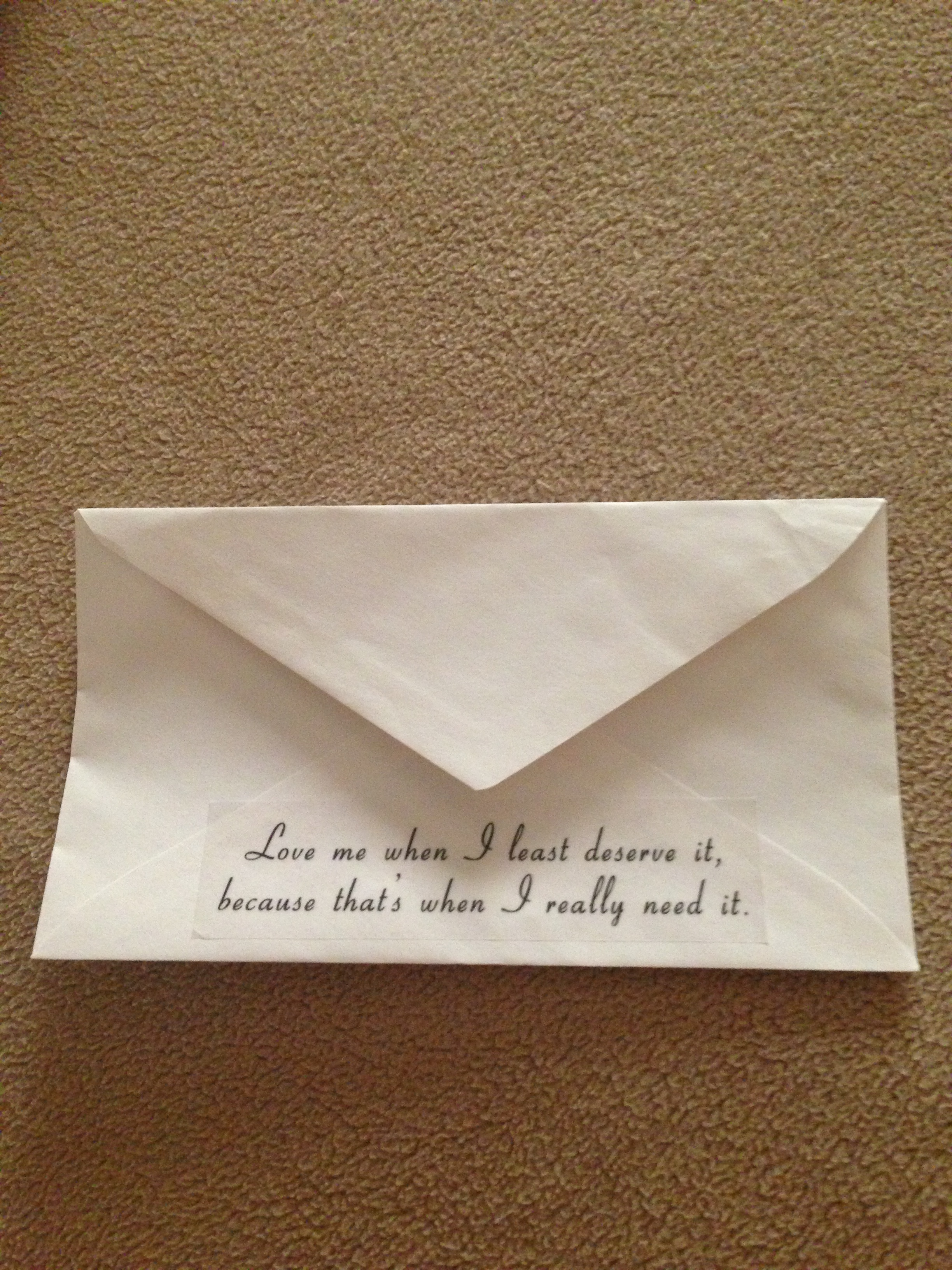 The back of the envelope.