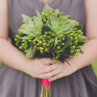 Succulents Bridesmaids Bouquet Bouquet
