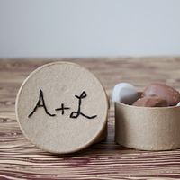 Embroidered Favor Boxes