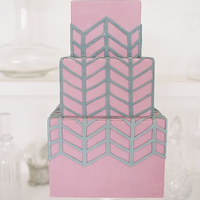 Patterned Wedding Cake