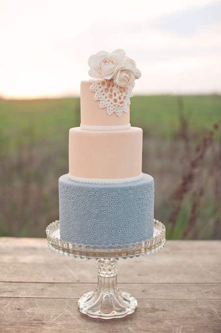 Lace Doilies Wedding Cake