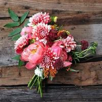 Dahlias and Peonies